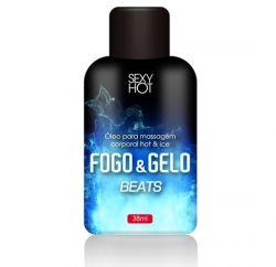Óleo para Massagem Beijável FOGO e GELO Beats 38ml - CO309