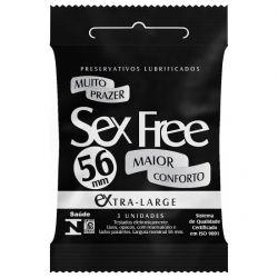 Preservativo Extra Large Lubrificado SEX FREE 3un. - SEX002