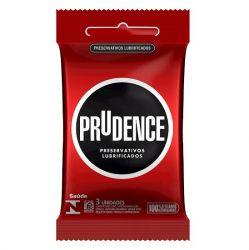 Preservativo Lubrificado com 3un Prudence - 02384