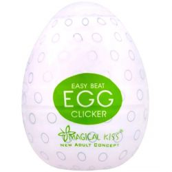 Masturbador EGG Clicker sem Vibro Magical Kiss - MA001CL