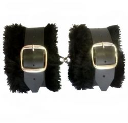 Algema Bracelete em Bidin e Pelúcia Preto - 021MR