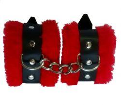 Algema Bracelete em Bedin e Pelúcia Vermelho - 022MR
