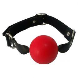 Mordaça Bola Maciça Vermelha 4,5cm e Couro Sintético - 070MR