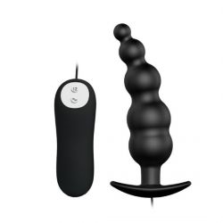 Plug Anal em Silicone Controle com Fio 12 Vibrações - BI-040039
