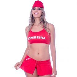 Fantasia Bombeira Saia - 1004
