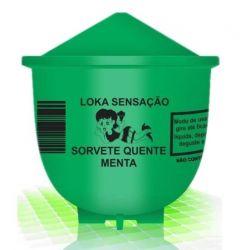 Vela Sorvete Quente Loka Sensação Menta 25g - 00214M
