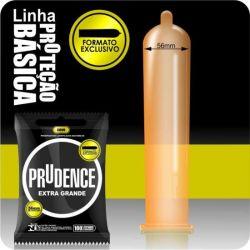 Preservativo Prudence Extra Grande 56mm com 3un - 00382